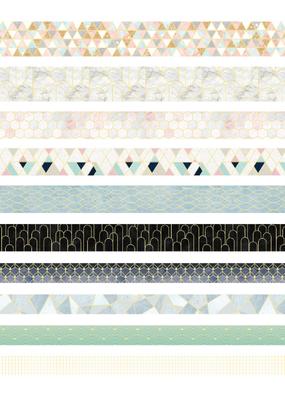collage Washi Set Cream and Gold
