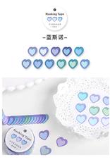 collage Heart Dot Washi Blue