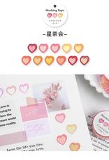 collage Heart Dot Washi Warm