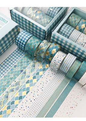 collage Washi Set Blue and Gold