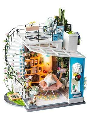 Hands Craft Miniature Dollhouse Kit Dora's Loft