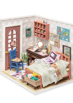 Hands Craft Miniature Dollhouse Kit Anne's Bedroom