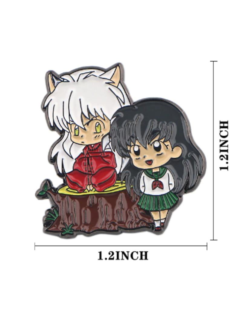 collage Enamel Pin Inuyasha and Kikyo