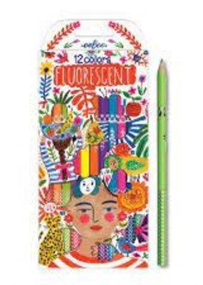 eeBoo Fluorescent Pencils 12 Piece Pack  Positivity