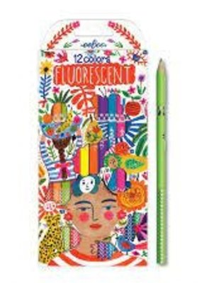 eeBoo Set of 12 Fluorescent Pencils Positivity