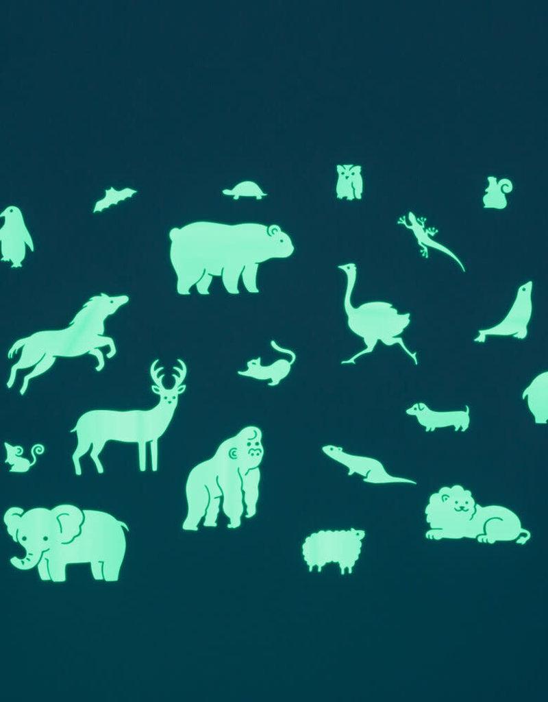 Gloplay Glow in the Dark Stickers Animals