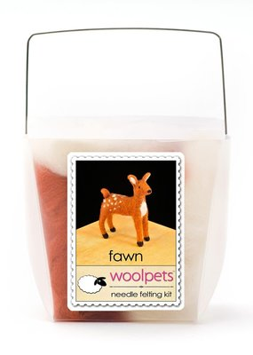Woolpets Needle Felting Kit Fawn