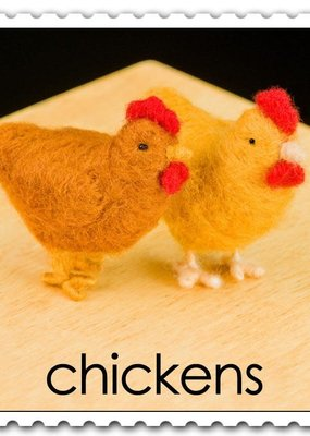 Woolpets Needle Felting Kit Chickens