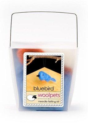Woolpets Needle Felting Kit Bluebird