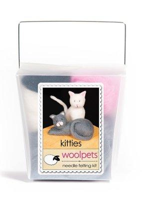 Woolpets Needle Felting Kit Kitties