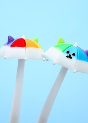Rainbow Umbrella Puppy Gel Pen