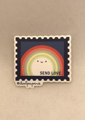 Ilootpaperie Sticker  Send Love Rainbow Stamp