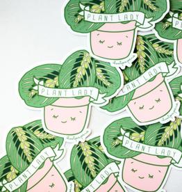 Ilootpaperie Sticker Miss Plant Lady