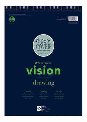 Strathmore Strathmore Vision Drawing Paper Pad Spiral Bound 11 x 14 Inch