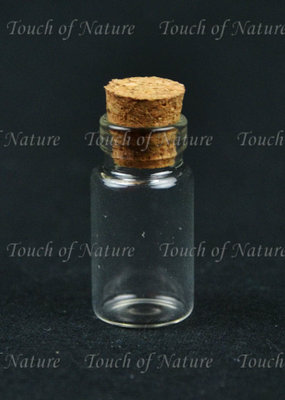 Touch of Nature Mini Glass Bottle 1 Inch