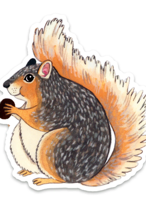 Cactus Club Sticker Squirrel