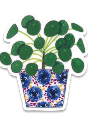 Cactus Club Sticker Pilea Plant