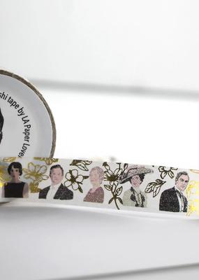 LA Paper Lover Washi Downton Abbey Floral Metallic