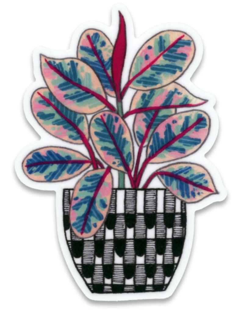 Cactus Club Sticker Ruby Rubber Plant