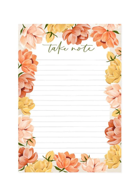 1 Canoe 2 Notepad Golden Poppy Take Note