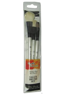 Robert Simmons Simply Simmons Brush Set Mop Up 3 Brushes