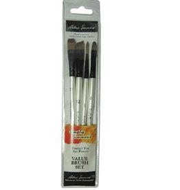 Robert Simmons Simply Simmons Brush Set Work Horse 4 Brushes