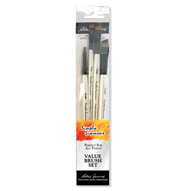Robert Simmons Simply Simmons Brush Set All The Angles 4 Brushes