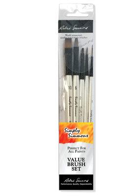 Robert Simmons Simply Simmons Brush Set Everything 5 Brushes