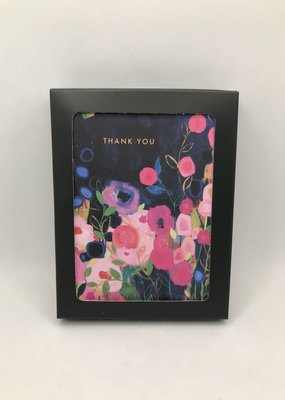 Biely & Shoaf Co. Boxed Card Pink and Blue Flowers