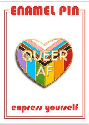 The Found Enamel Pin Queer AF Progressive Pride