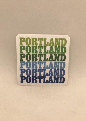Rock Scissor Paper Sticker Portland Repeat Cool Colors