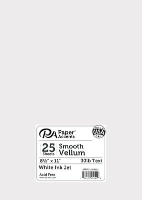 Paper Accents Smooth Vellum 25 Pack