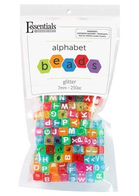 Leisure Arts Glitter Alphabet Beads