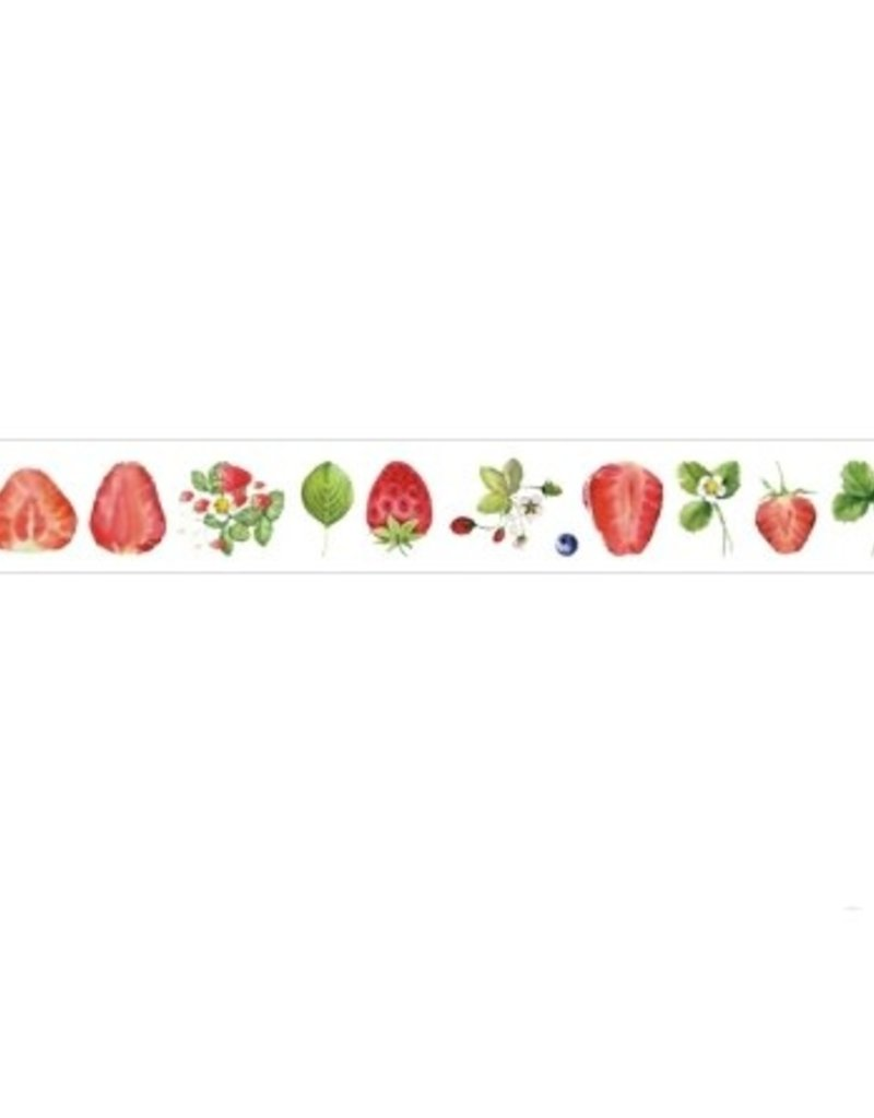 collage Washi Clear Strawberry