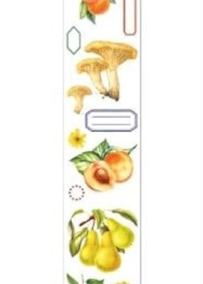 collage Washi Clear Citrus and Mushrooms