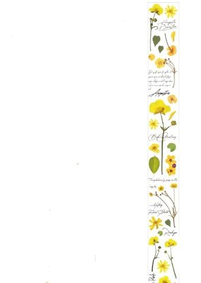 collage Washi Clear Yellow Flowers