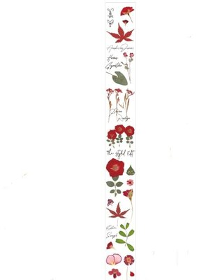 collage Washi Clear Red Flowers