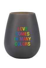 About Face Many Colors Silicone Wine Cup