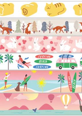 collage Washi Set Lets Go Surfing