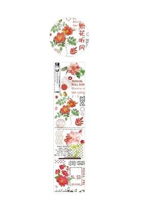 collage Washi Clear Floral Ephemera