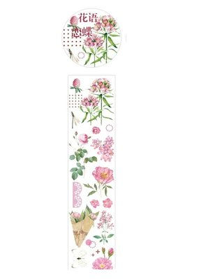 collage Washi Clear Pink Floral