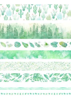 collage Washi Set Green
