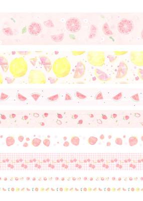 collage Washi Set Pink Fruits