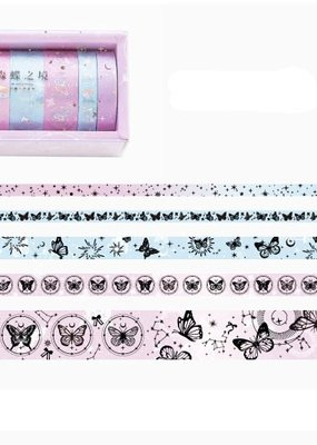 collage Washi Set Pink BUtterfly Galaxy