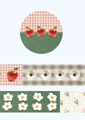 collage Washi Fruit and Flower