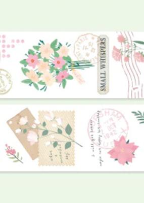 collage Washi Pink Blooms