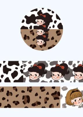 collage Washi Animal Print Lady