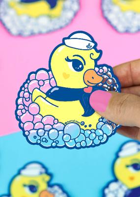 Turtle's Soup Vinyl  Sticker Rubber Ducky Sailor