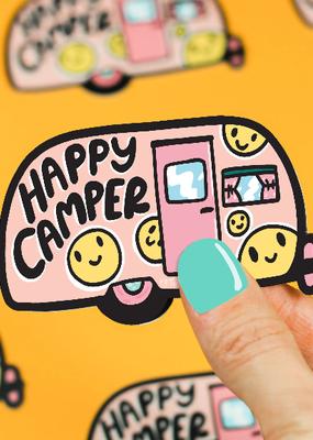 Turtle's Soup Vinyl  Sticker Happy Camper Camping