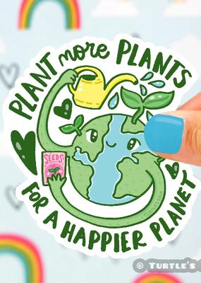 Turtle's Soup Vinyl  Sticker Plant More Plants